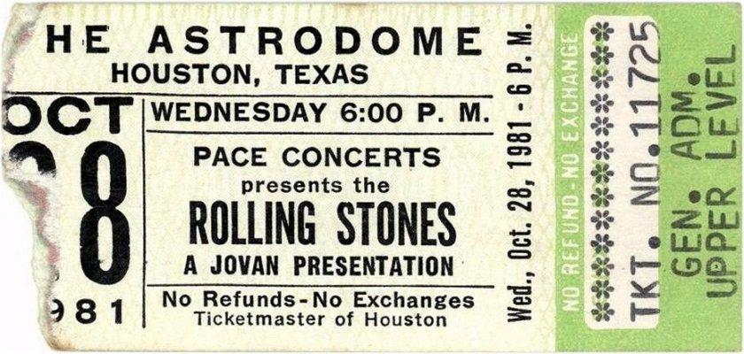 rolling stones astrodome houston 1981 video