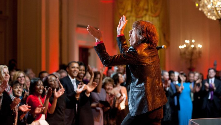 Mick Jagger white house 2012