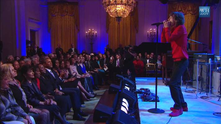 mick jagger miss you white house 2012 obama
