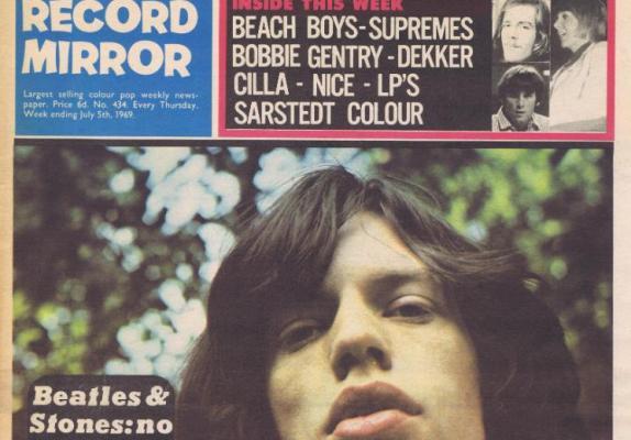 rolling stones record mirror 1969