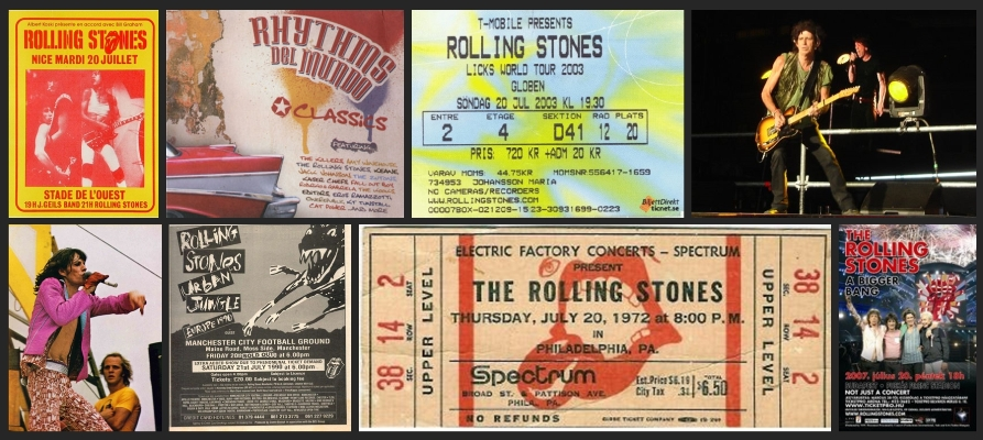 rolling stones chronology july 20