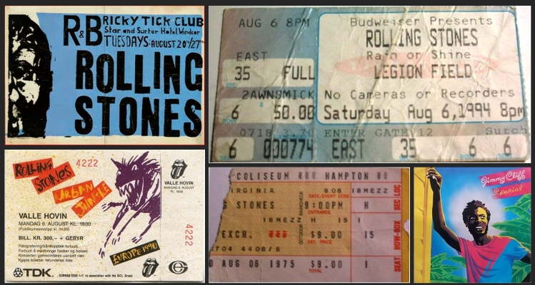 rolling stones chronology august 6