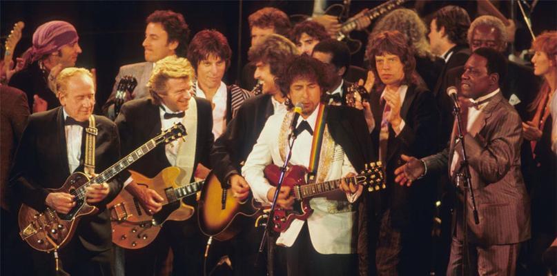 jagger dylan rock hall of fame 1988