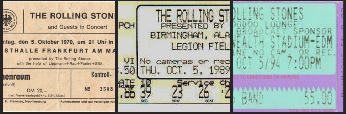 rolling stones chronology october 5